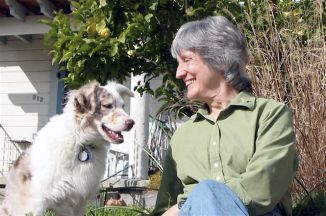 Donna Haraway et sa chienne Cayenne